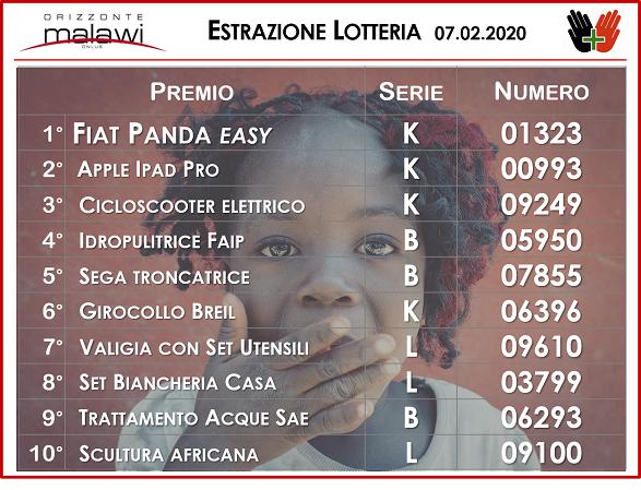estrazione lotteria 7.2.20 sito